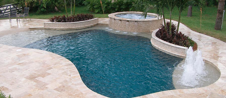 South florida pool builders pool tek of the palm beaches for Pool designs florida